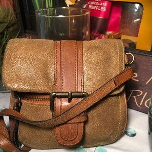 Tano Suede Crossbody Bag